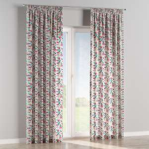 Pencil pleat curtains 130 x 260 cm (51 x 102 inch) in collection Monet, fabric: 140-10
