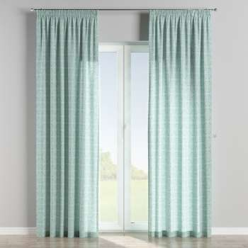 Pencil pleat curtains in collection Flowers, fabric: 140-37