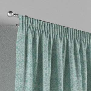Pencil pleat curtains 130 x 260 cm (51 x 102 inch) in collection Flowers, fabric: 140-37