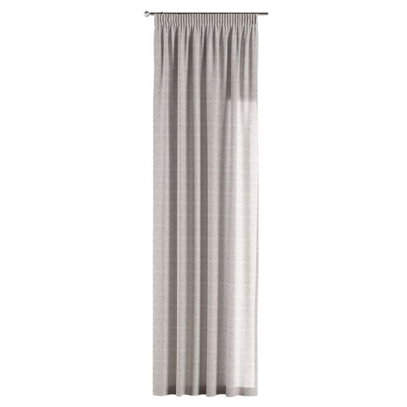 Pencil pleat curtain in collection Flowers, fabric: 140-38
