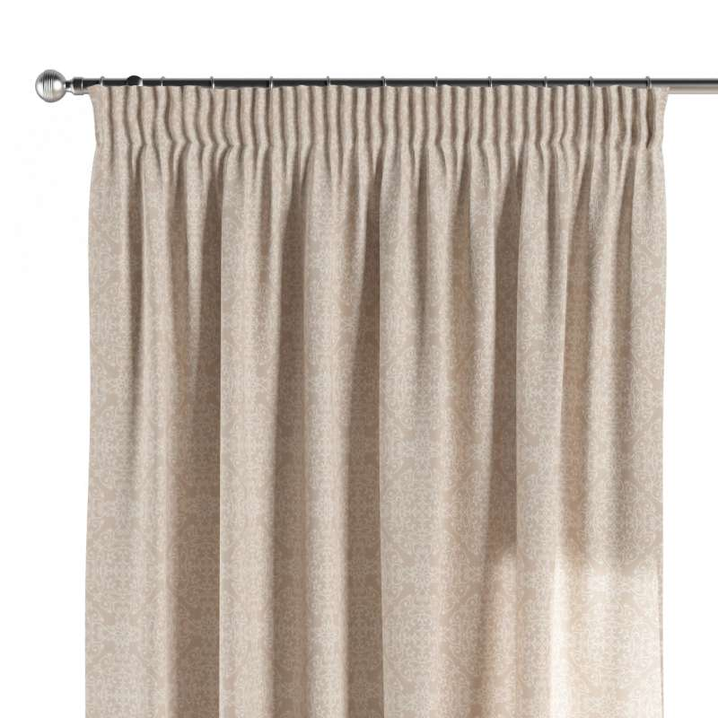Pencil pleat curtain in collection Flowers, fabric: 140-39