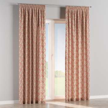 Pencil pleat curtains in collection Londres, fabric: 140-45