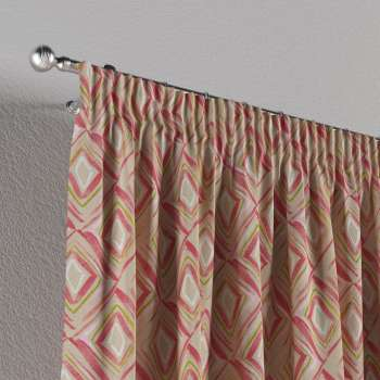 Pencil pleat curtains 130 x 260 cm (51 x 102 inch) in collection Londres, fabric: 140-45