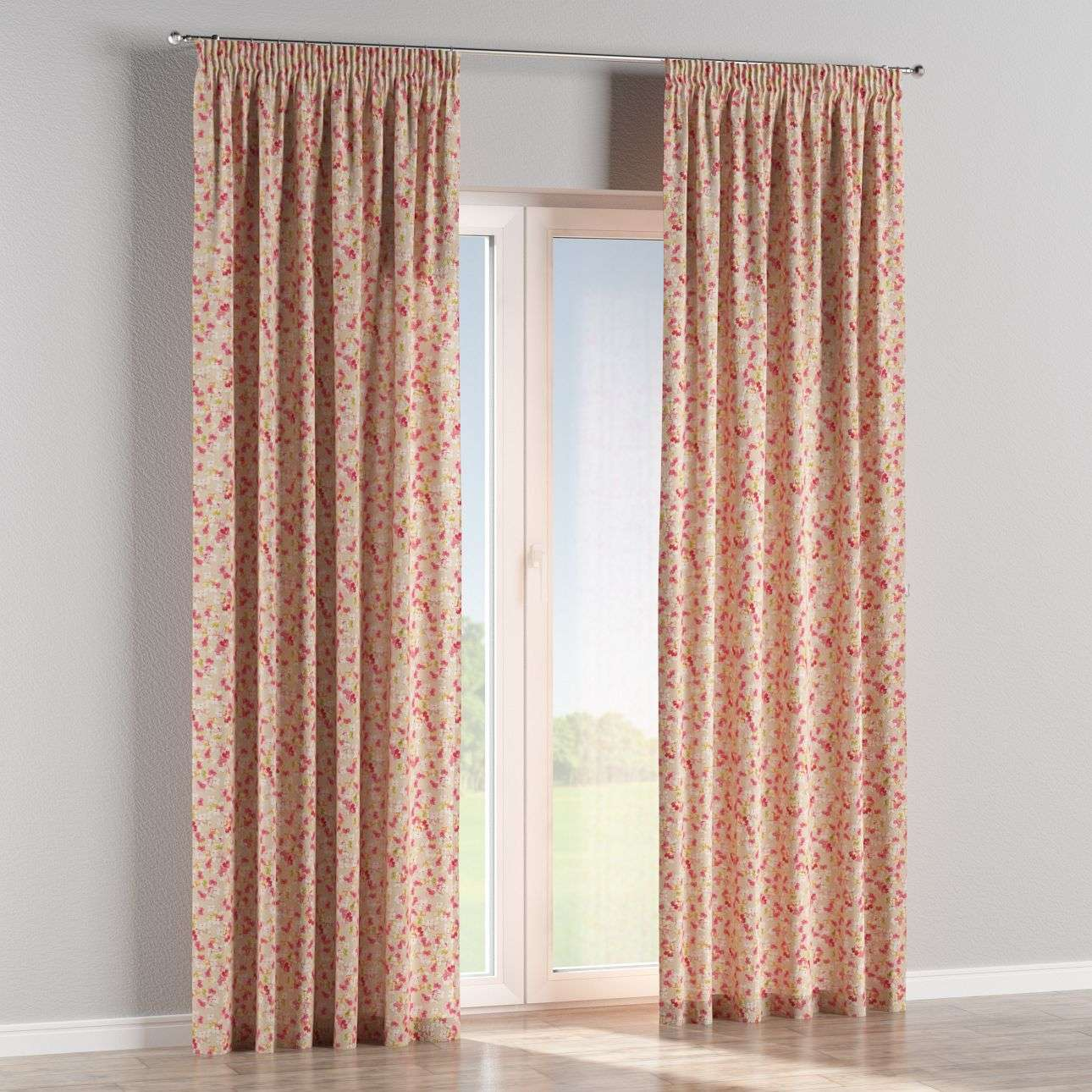 Pencil pleat curtains 130 × 260 cm (51 × 102 inch) in collection Londres, fabric: 140-47