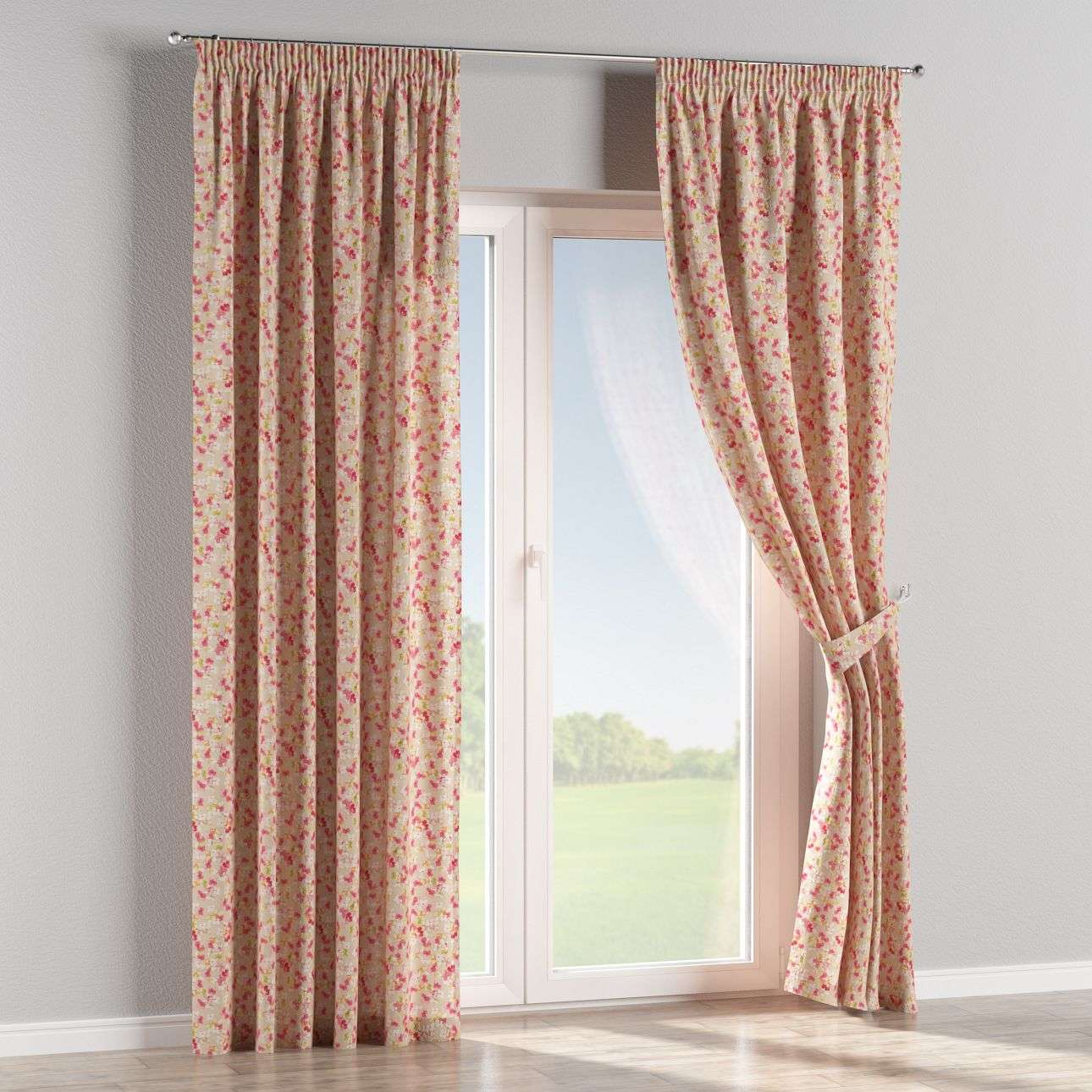 Pencil pleat curtains in collection Londres, fabric: 140-47