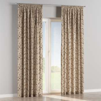 Pencil pleat curtains 130 x 260 cm (51 x 102 inch) in collection Londres, fabric: 140-48