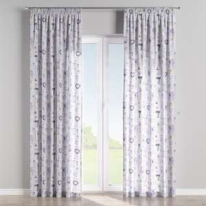 Pencil pleat curtains 130 x 260 cm (51 x 102 inch) in collection Ashley, fabric: 140-18