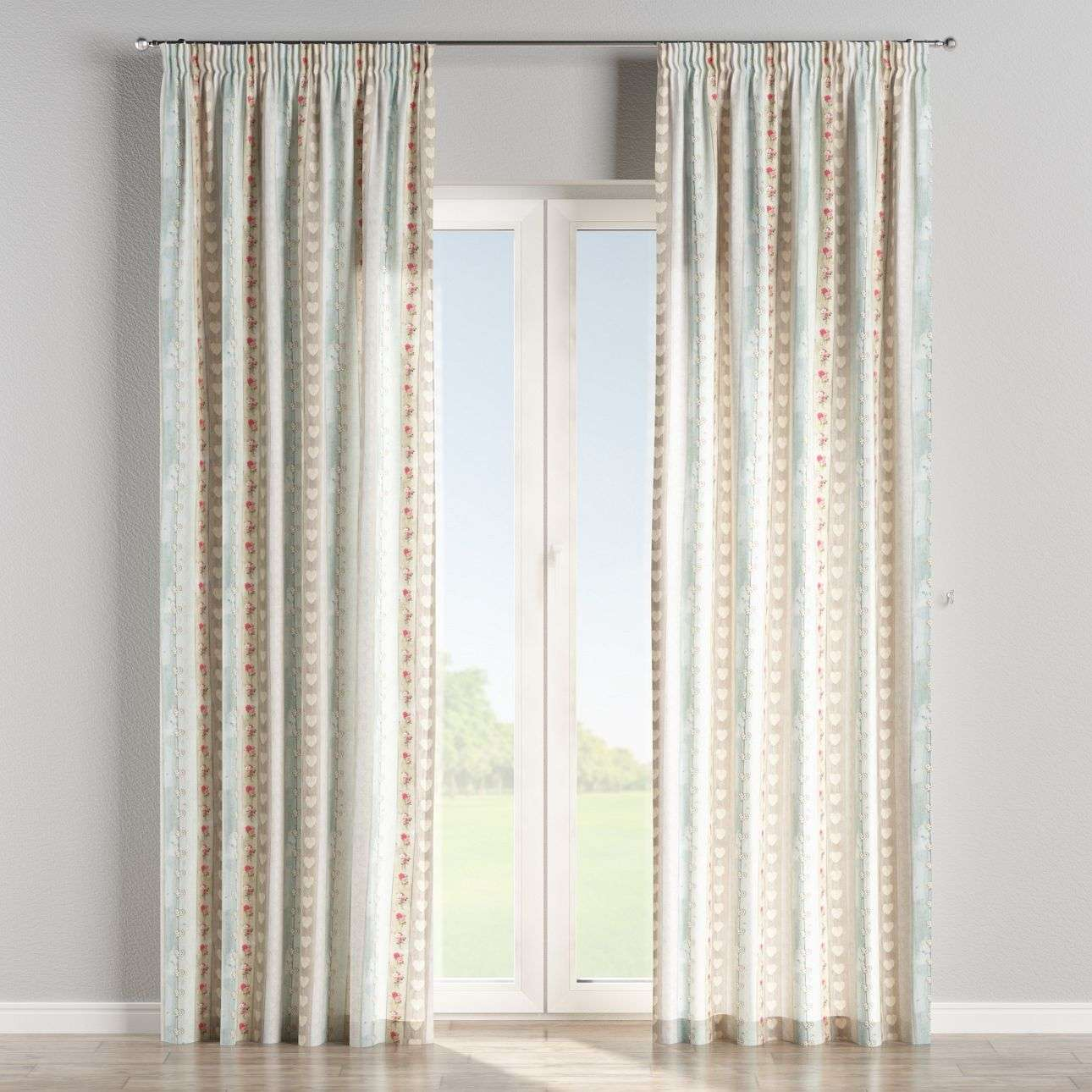 Pencil pleat curtains 130 x 260 cm (51 x 102 inch) in collection Ashley, fabric: 140-20