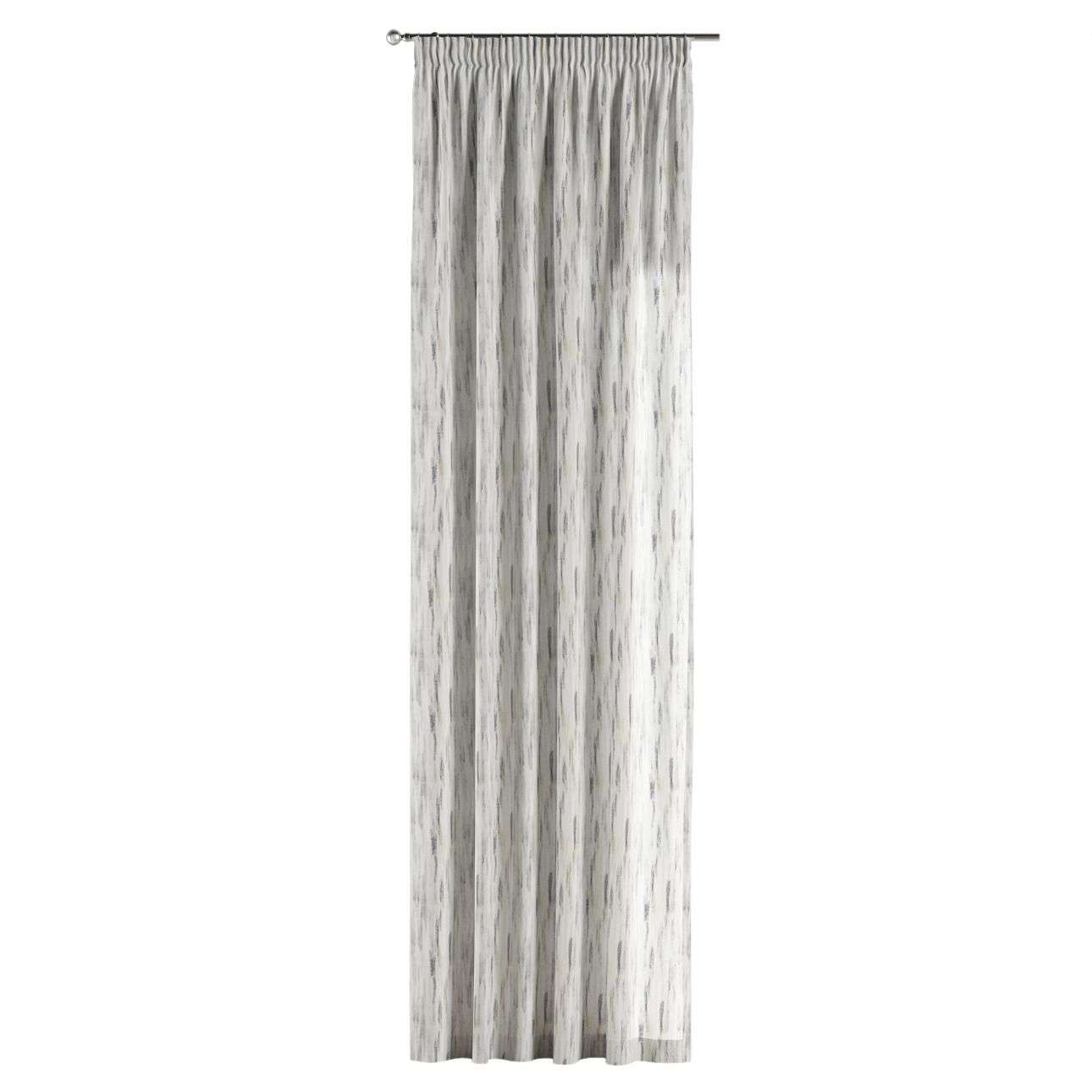 Pencil pleat curtains in collection Aquarelle, fabric: 140-66