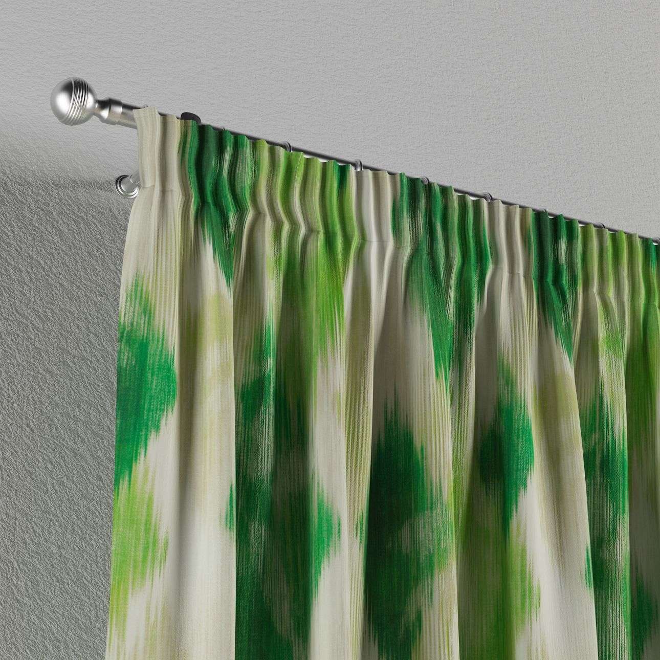 Pencil pleat curtains in collection Aquarelle, fabric: 140-70