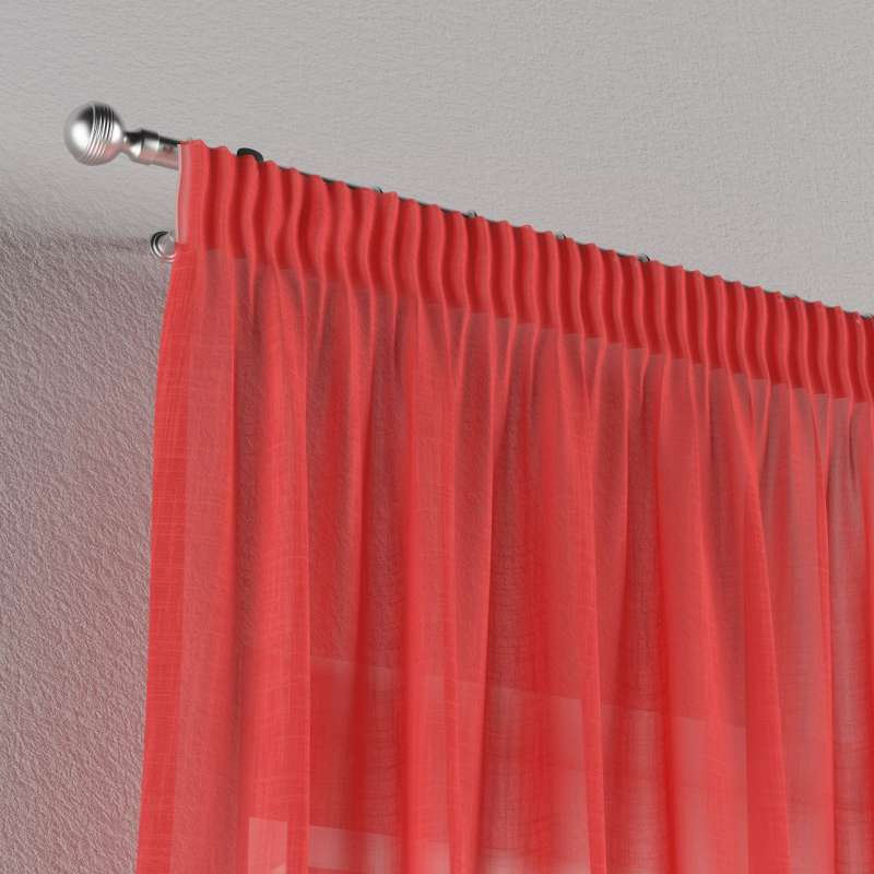 Gardin med rynkband 1 längd i kollektionen Romantica, Tyg: 128-02