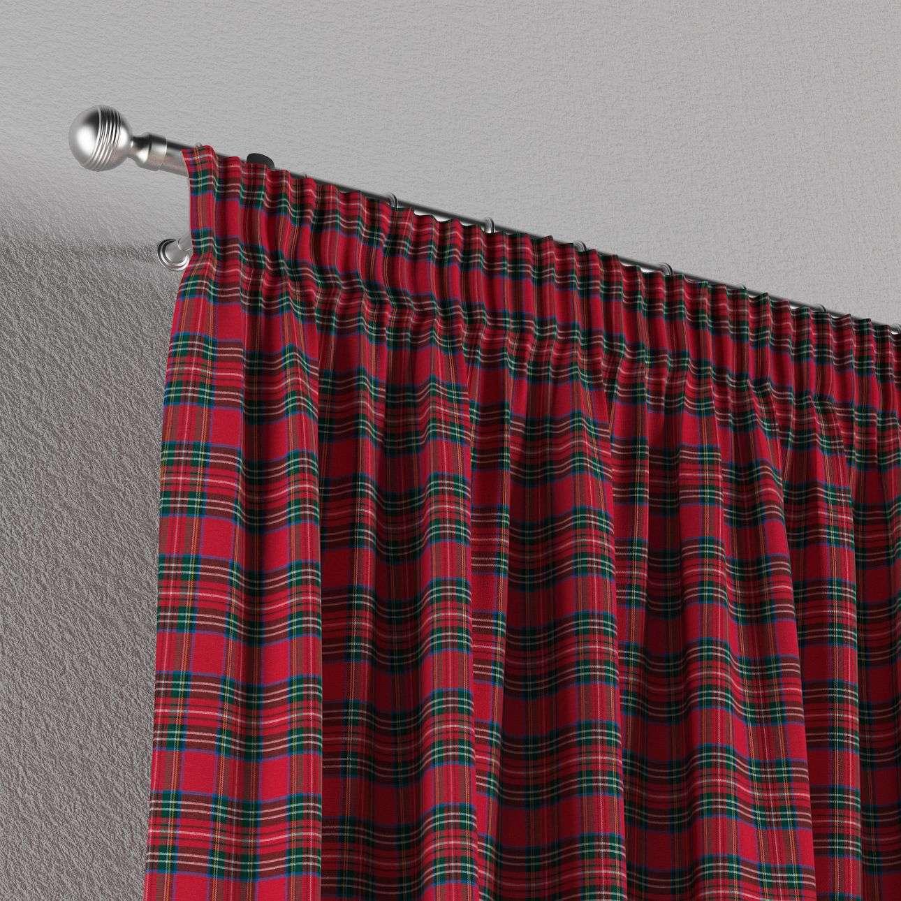 Vorhang mit Kräuselband 130 x 260 cm von der Kollektion Bristol, Stoff: 126-29