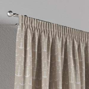 Pencil pleat curtains 130 x 260 cm (51 x 102 inch) in collection Marina, fabric: 140-63