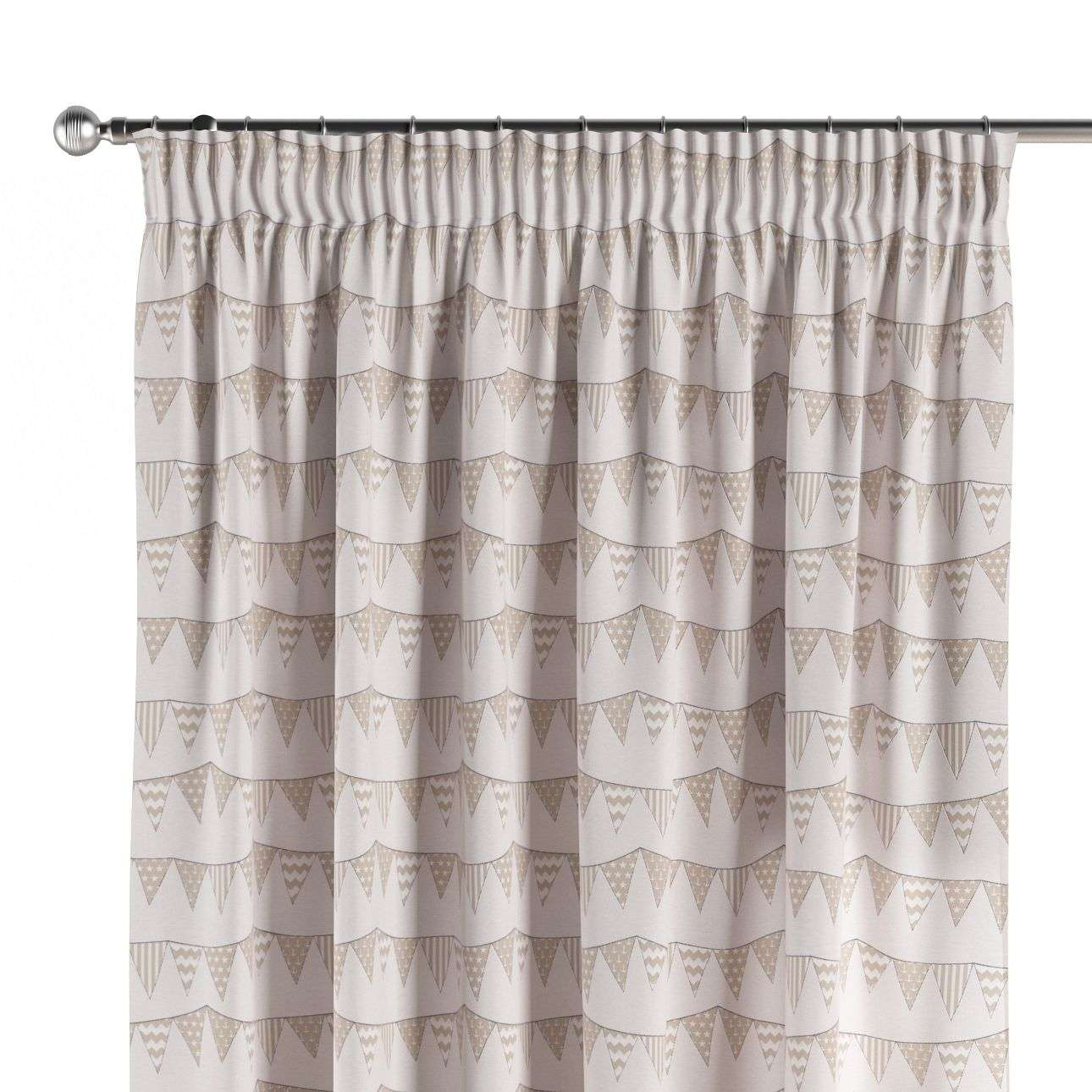 Pencil pleat curtains 130 x 260 cm (51 x 102 inch) in collection Marina, fabric: 140-65