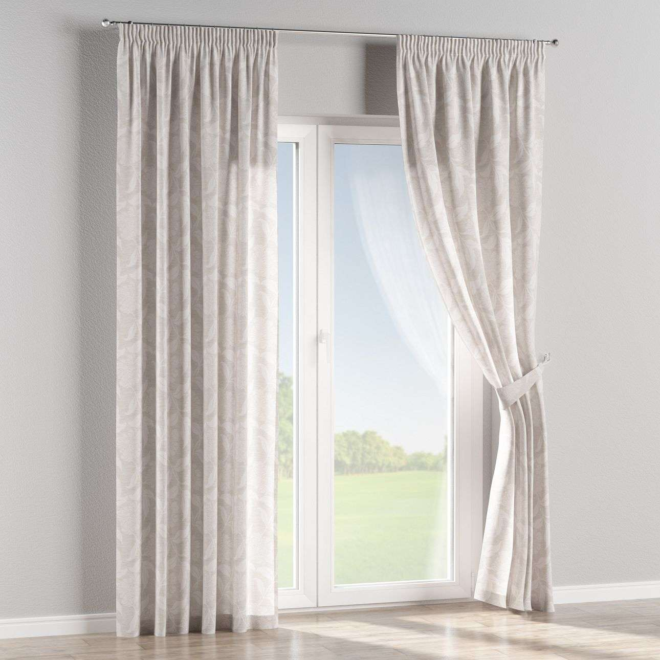 Pencil pleat curtains 130 x 260 cm (51 x 102 inch) in collection Venice, fabric: 140-51