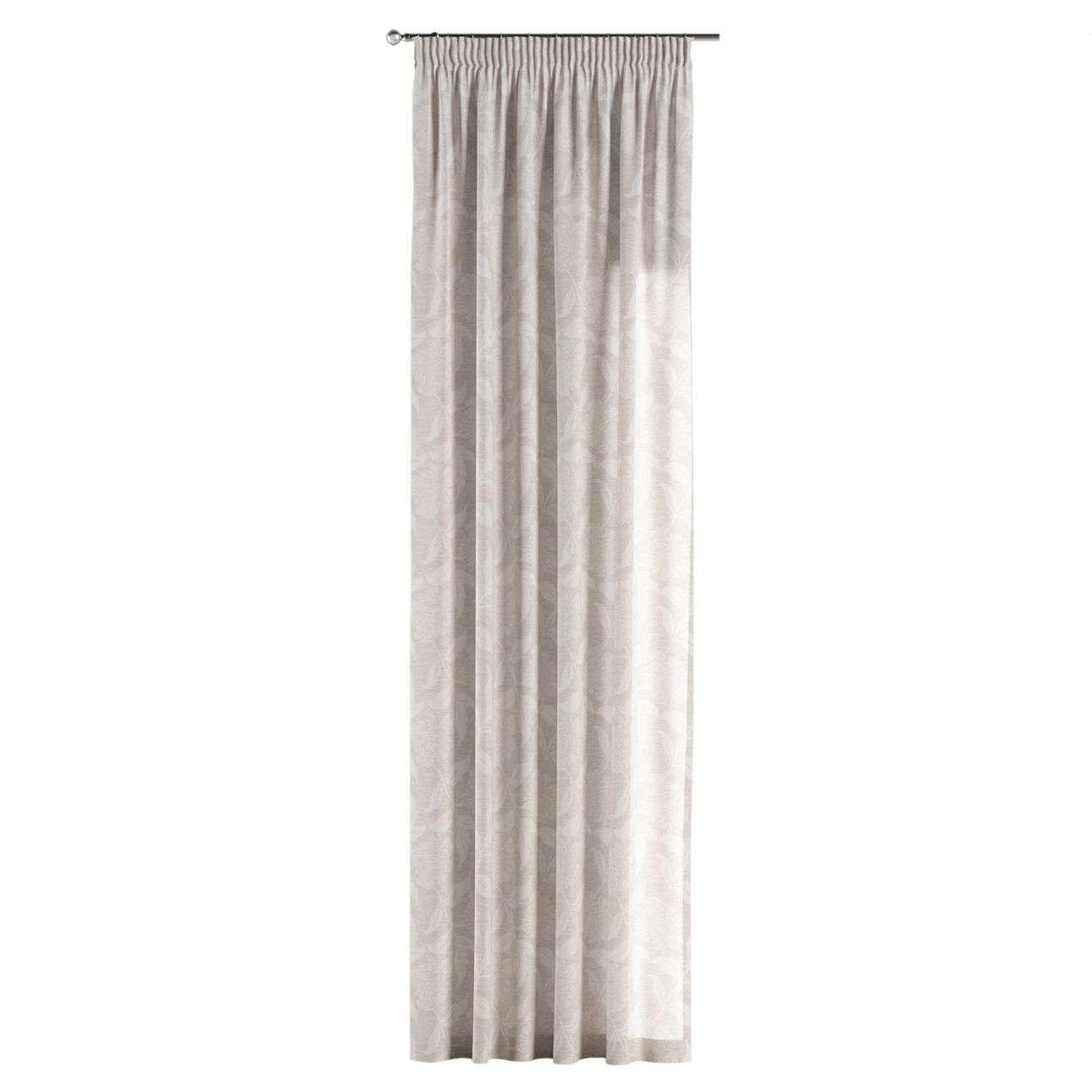 Gardin med rynkband 1 längd 130 x 260 cm i kollektionen Venice - NYHET, Tyg: 140-51