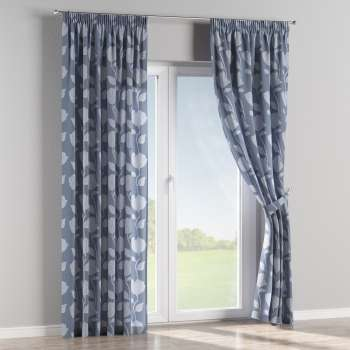 Pencil pleat curtains 130 x 260 cm (51 x 102 inch) in collection Venice, fabric: 140-61