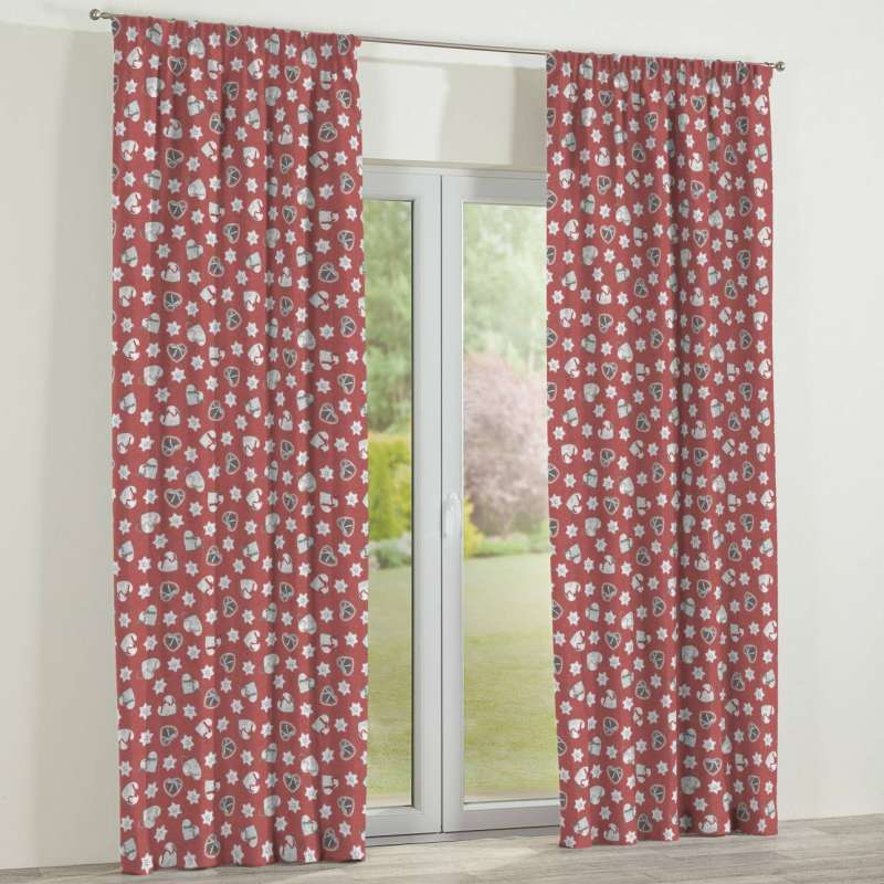 Pencil pleat curtain in collection Christmas, fabric: 629-29