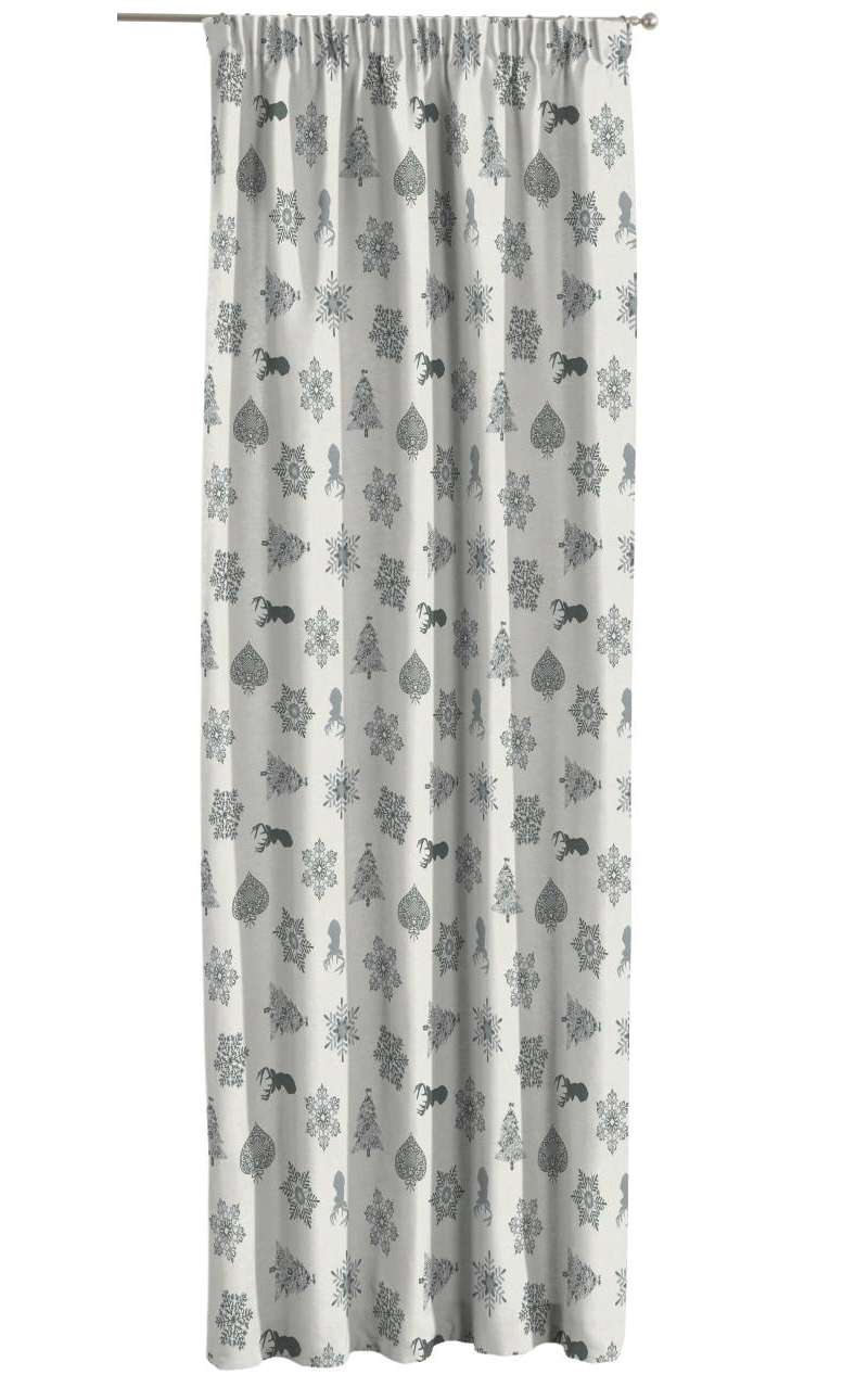 Pencil pleat curtains in collection Christmas, fabric: 630-24
