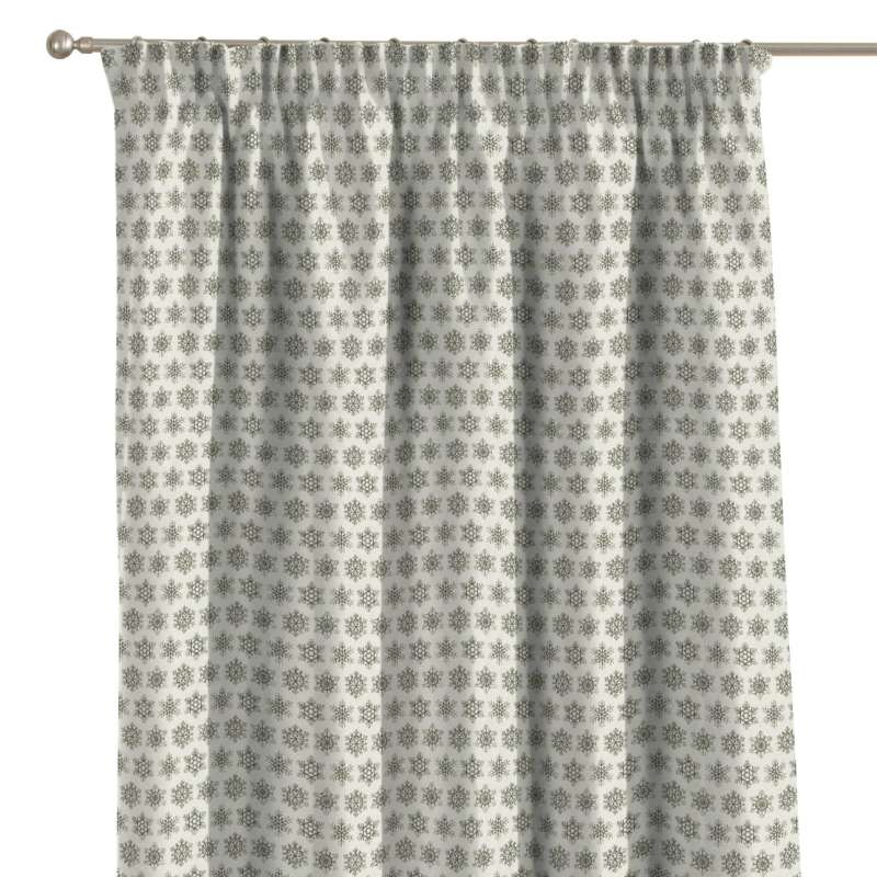 Pencil pleat curtain in collection Christmas, fabric: 630-26