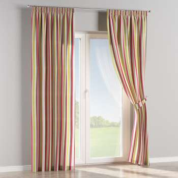 Pencil pleat curtains in collection Flowers, fabric: 140-81