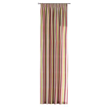 Pencil pleat curtains 130 x 260 cm (51 x 102 inch) in collection Flowers, fabric: 140-81