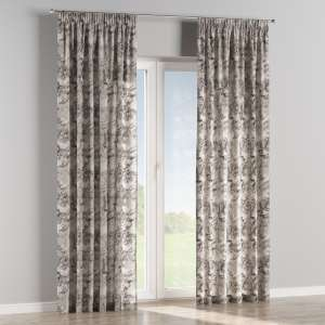 Pencil pleat curtains 130 x 260 cm (51 x 102 inch) in collection Norge, fabric: 140-82