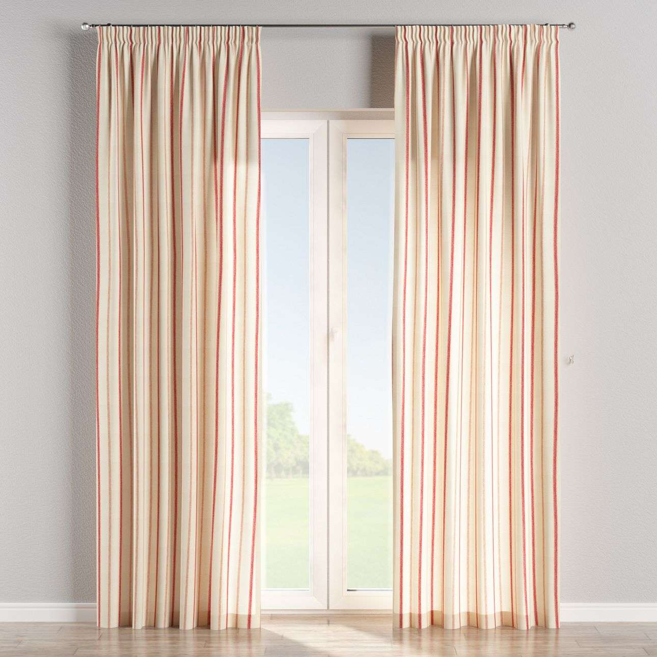 Pencil pleat curtains 130 x 260 cm (51 x 102 inch) in collection Avinon, fabric: 129-15