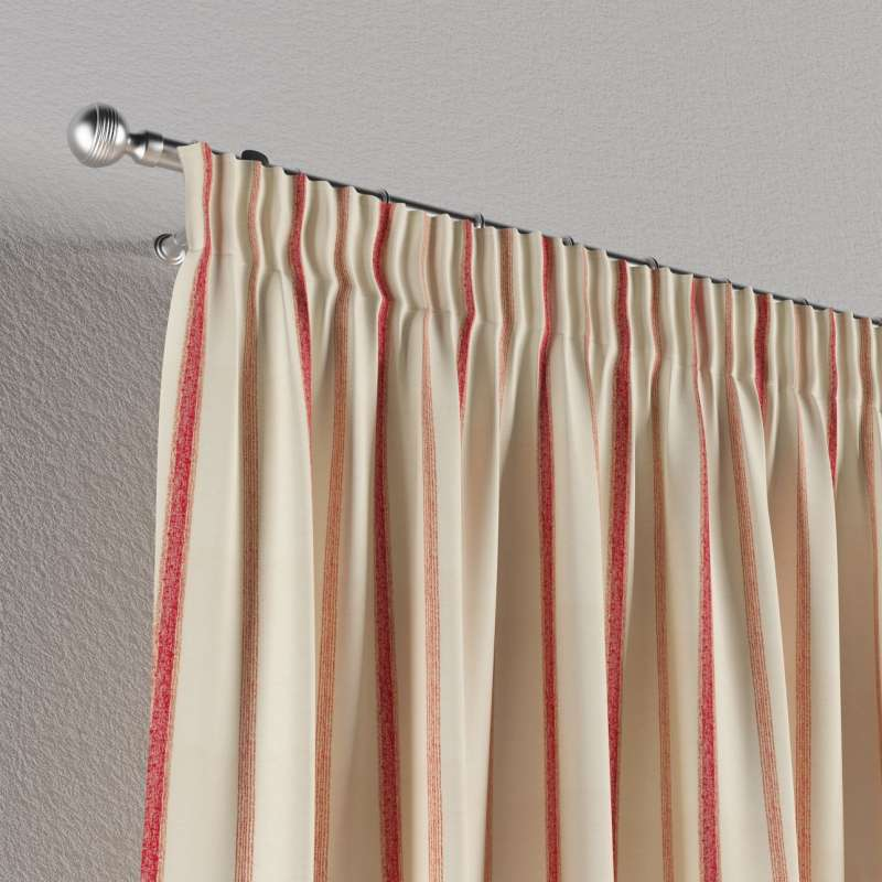Pencil pleat curtain in collection Avinon, fabric: 129-15