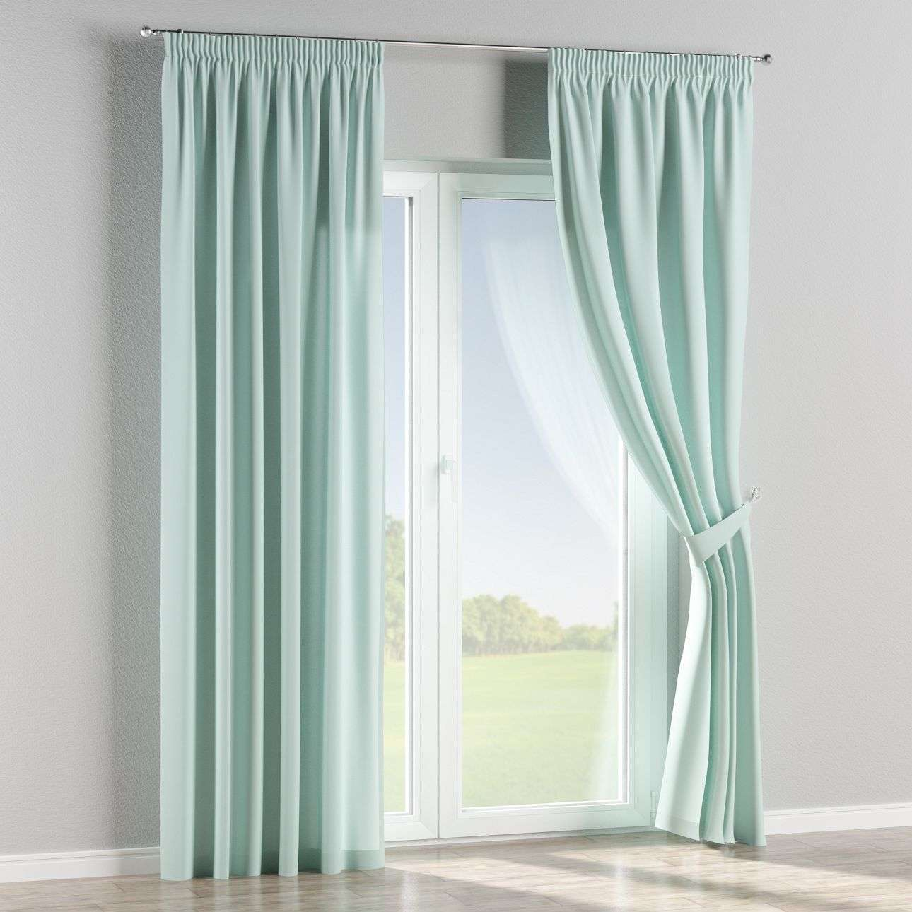 Pencil pleat curtains 130 × 260 cm (51 × 102 inch) in collection Panama Cotton, fabric: 702-10