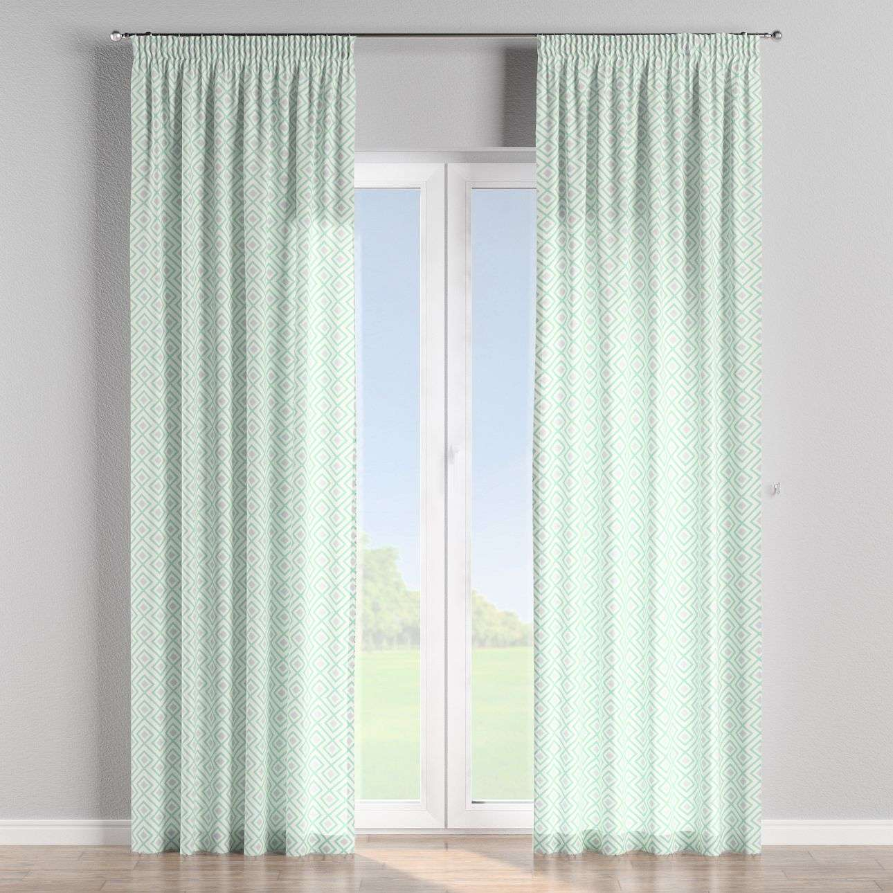 Pencil pleat curtains in collection Geometric, fabric: 141-45