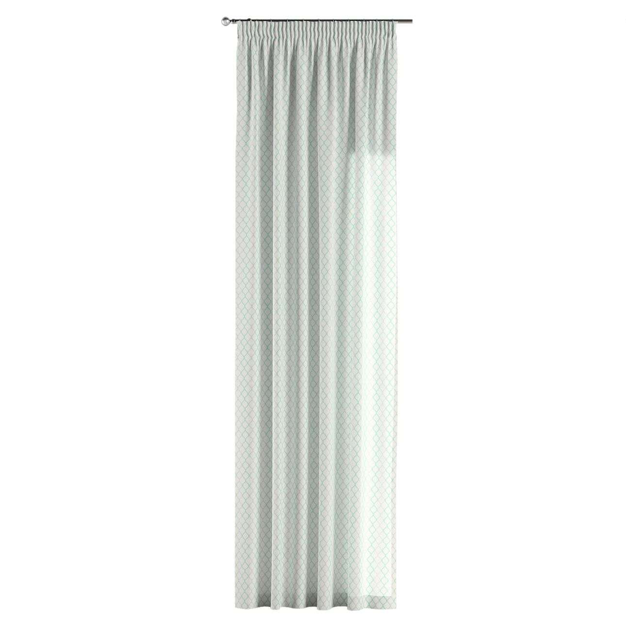 Pencil pleat curtains 130 x 260 cm (51 x 102 inch) in collection Geometric, fabric: 141-47