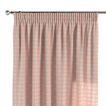 Pencil pleat curtains in collection Geometric, fabric: 141-48