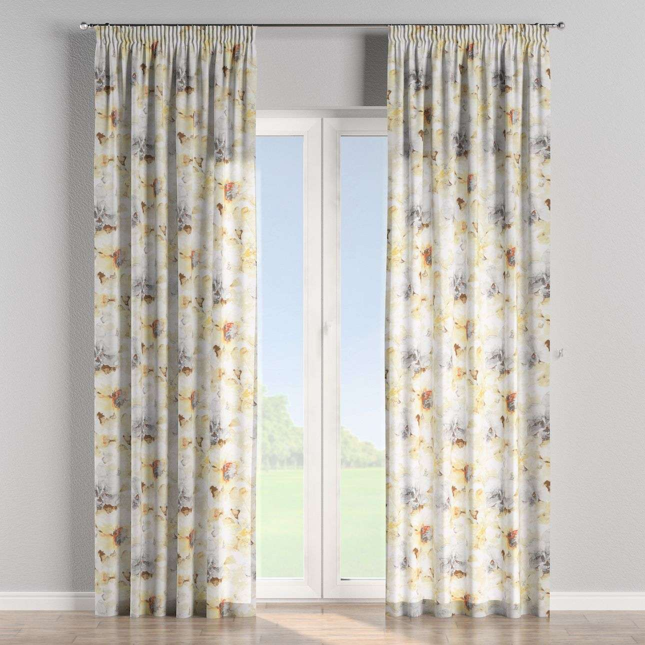 Pencil pleat curtains 130 x 260 cm (51 x 102 inch) in collection Acapulco, fabric: 141-33
