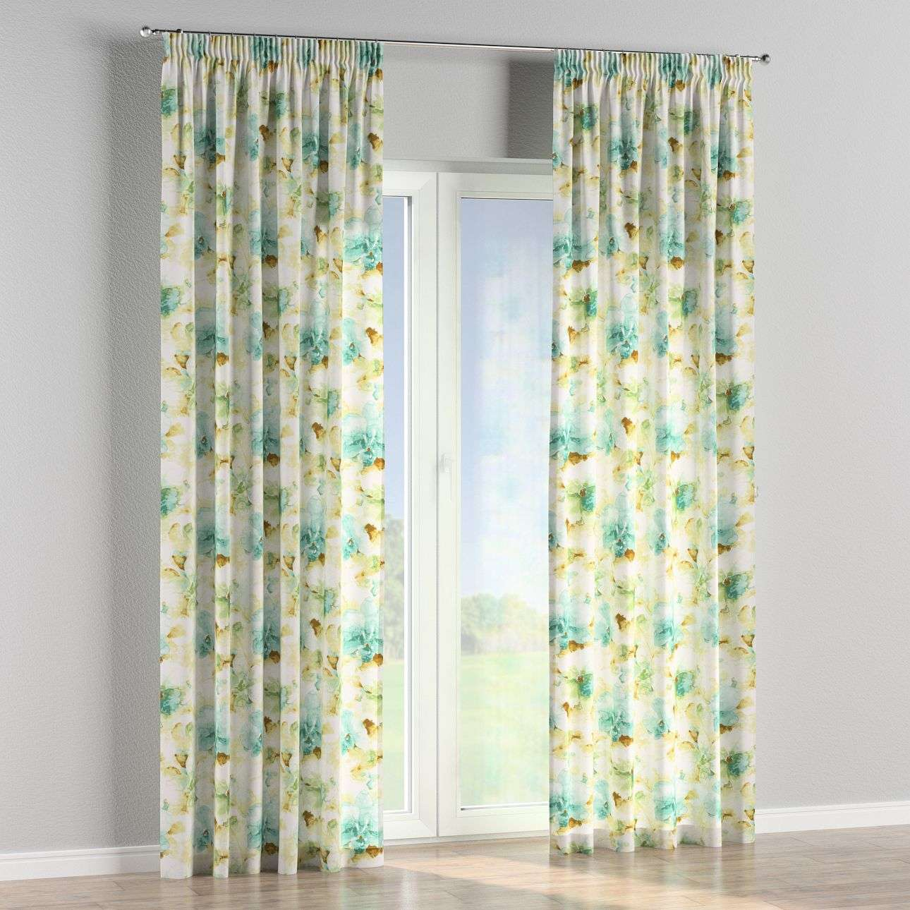 Pencil pleat curtains in collection Acapulco, fabric: 141-35