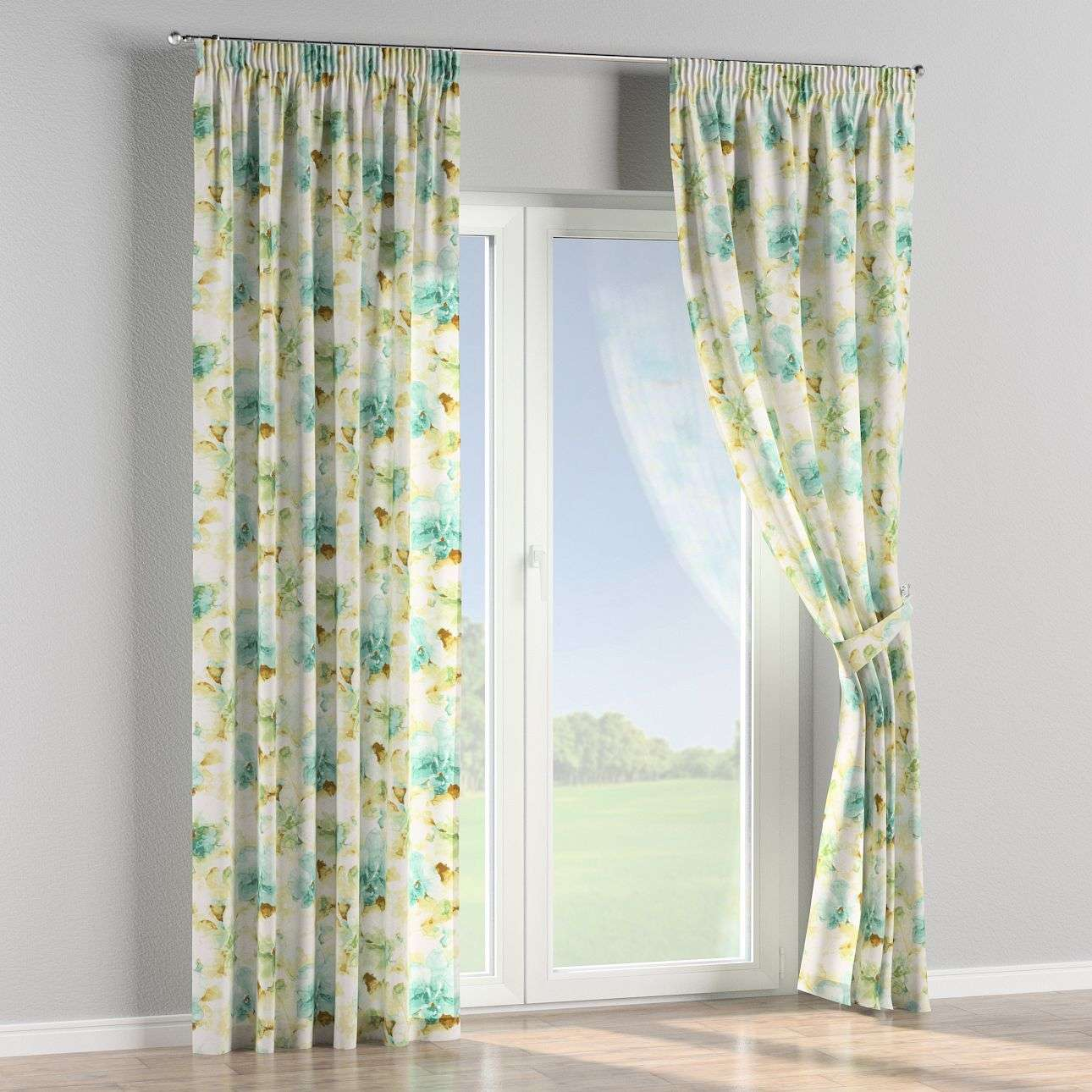 Pencil pleat curtains 130 x 260 cm (51 x 102 inch) in collection Acapulco, fabric: 141-35