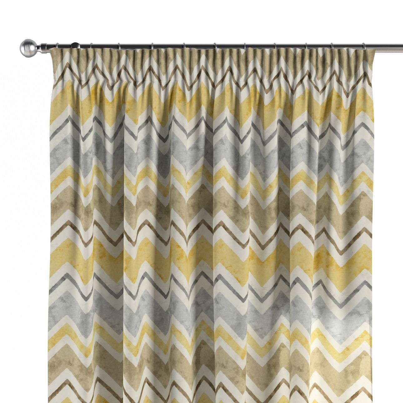 Pencil pleat curtains 130 x 260 cm (51 x 102 inch) in collection Acapulco, fabric: 141-39