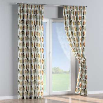 Pencil pleat curtains 130 x 260 cm (51 x 102 inch) in collection Urban Jungle, fabric: 141-43