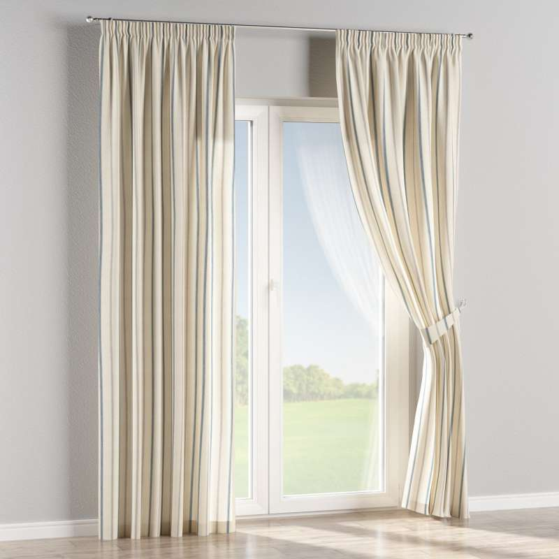 Pencil pleat curtains in collection Avinon, fabric: 129-66