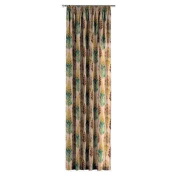 Pencil pleat curtains in collection Urban Jungle, fabric: 141-60