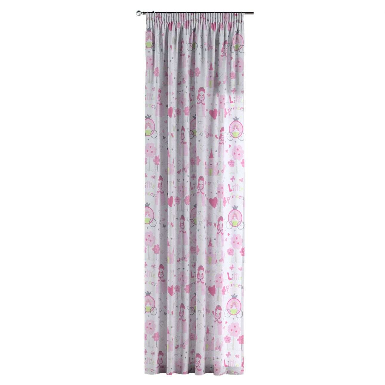Pencil pleat curtains 130 x 260 cm (51 x 102 inch) in collection Little World, fabric: 141-28