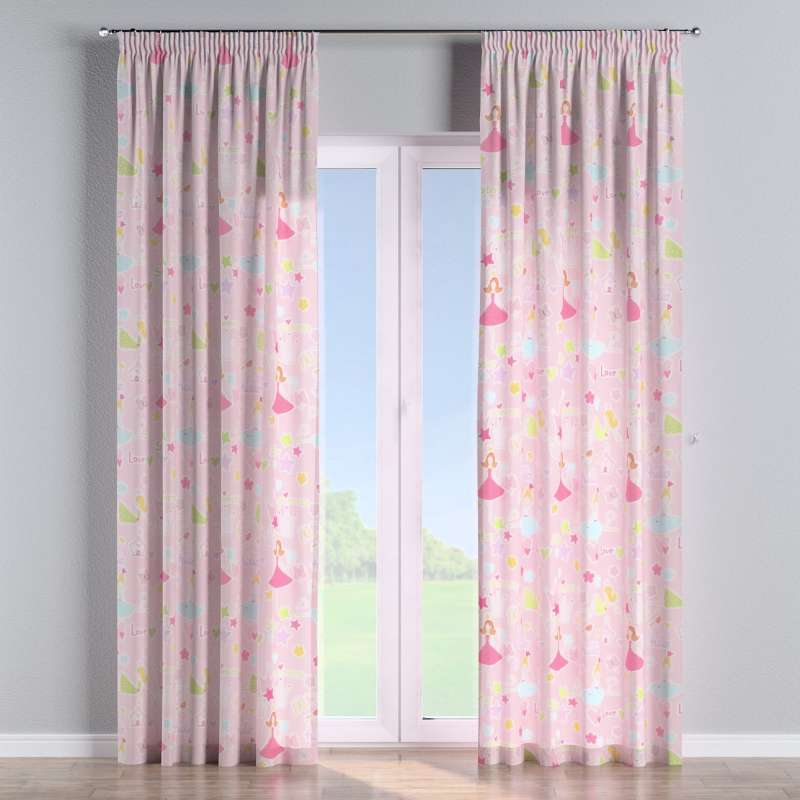 Pencil pleat curtain in collection Little World, fabric: 141-50