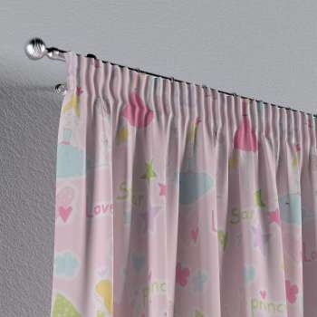 Pencil pleat curtains 130 x 260 cm (51 x 102 inch) in collection Little World, fabric: 141-50
