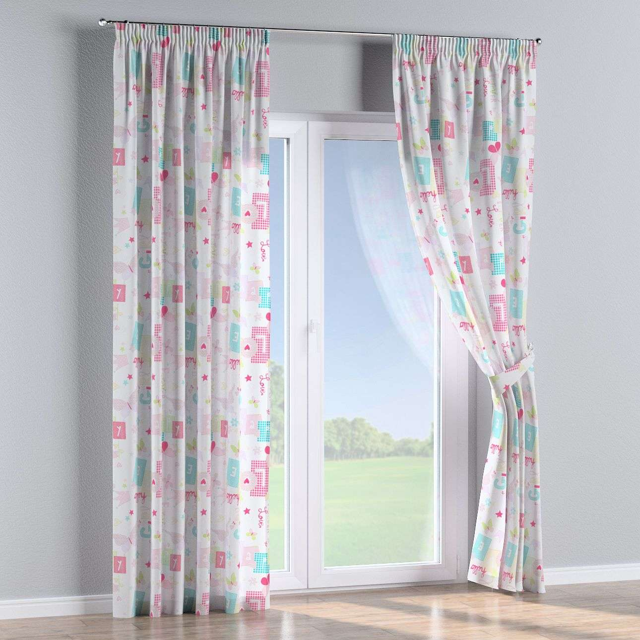 Pencil pleat curtains in collection Little World, fabric: 141-51
