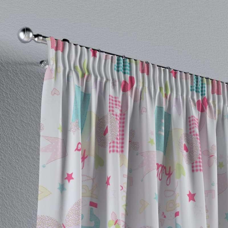 Vorhang mit Kräuselband von der Kollektion Little World, Stoff: 141-51