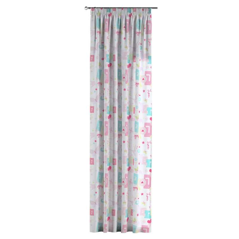 Pencil pleat curtain in collection Little World, fabric: 141-51