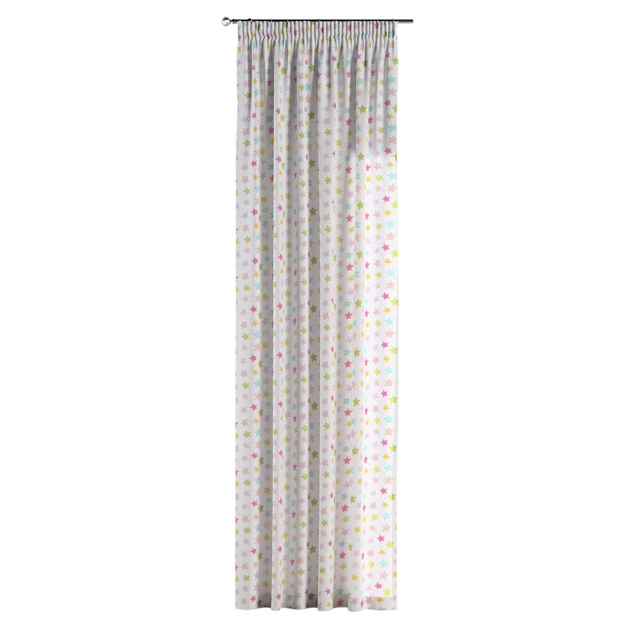 Pencil pleat curtains 130 x 260 cm (51 x 102 inch) in collection Little World, fabric: 141-52