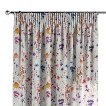 Pencil pleat curtains 130 × 260 cm (51 × 102 inch) in collection Flowers, fabric: 141-53