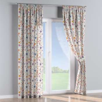 Pencil pleat curtains in collection Flowers, fabric: 141-53