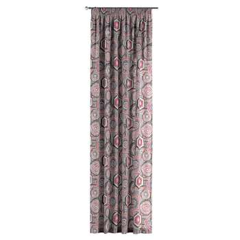 Pencil pleat curtains in collection New Art, fabric: 141-54